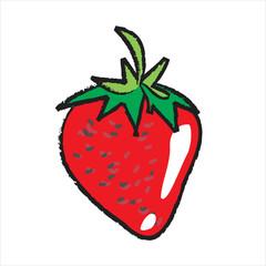 Bleistiftzeichnung: Erdbeere