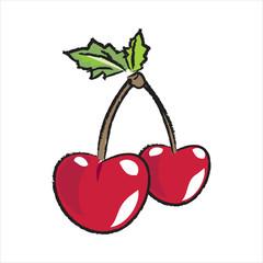 Bleistiftzeichnung: Kirschen