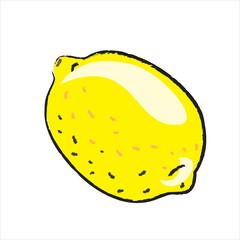Bleistiftzeichnung: Zitrone