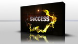 Success Text in Cubes, Loop - HD1080