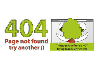Funny error 404 - Page not found