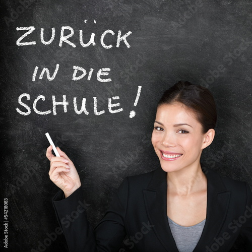 Zuruck in die Schule - German back to school