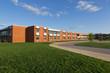 Leinwanddruck Bild - school building