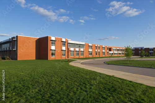 Leinwanddruck Bild school building