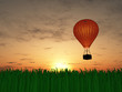 Hot air balloon sunset