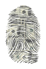 US Dollars FInger Print