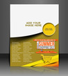 Vector shopping sale brochure, flyer, magazine cover