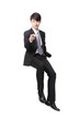 businessman smiling and pointing to you