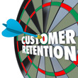 Customer Retention Dartboard Perfect Dart Hit