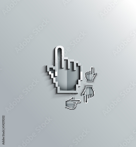 3d hand mouse cursor, vector icon