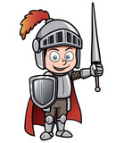 Vector illustration of Cartoon knight