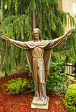 Bronze statue of Jesus Christ