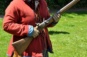 English Civil War Flintlock Rifle