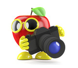 3d Apple takes his camera everywhere