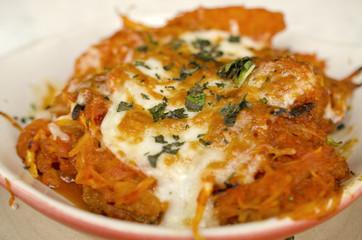Spaghetti squash casserole dish