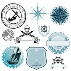 Schiffs und See Symbole