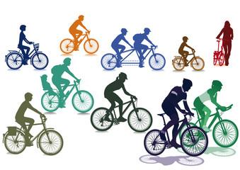 Radfahrer und Fahräder