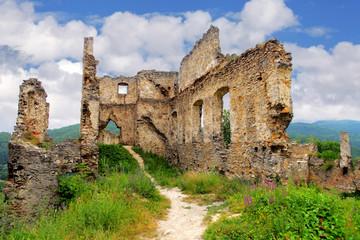 Ruin of castle - Povazsky hrad,  Slovakia