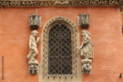 figury nad wejściem do piwnicy świdnickiej - wrocław