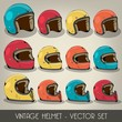 Vintage Helmet Vector Set