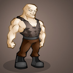 Muscular man. Vector illustration
