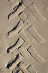 Traccia sulla sabbia