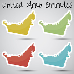 stickers in form of United Arab Emirates