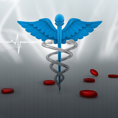 digital illustration of medical symbol in abstract background