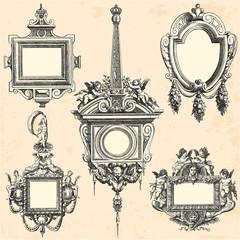 Collection de cadres anciens datant du XVII ème siècle