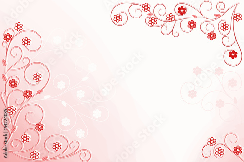 Floral background pink red