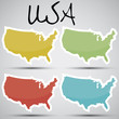 stickers in form of USA