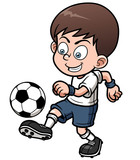Vector illustration Soccer player