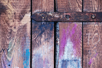 Multicolored wooden doors