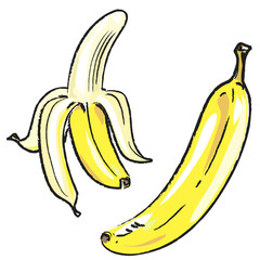 Bleistiftzeichnung: Banane situativ