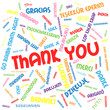 THANK YOU Card (thanks appreciation gratitude message tag cloud)