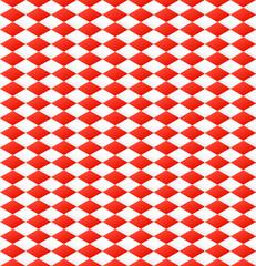 nahtloses Rautenmuster in rot weiß