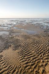 Ebbe am Strand von Duhnen bei Cuxhaven, Deutschland