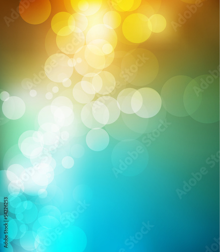Sunny spring beautiful multicolored background bokeh