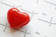 Obrazy na płótnie, fototapety, zdjęcia, fotoobrazy drukowane : Cardiogram and heart