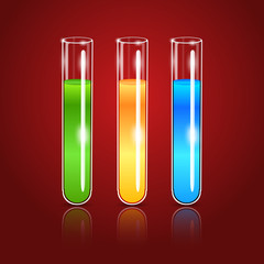 Vector glass test tubes
