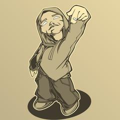 Hip hop man. Vector illustration