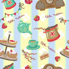 tea room pattern