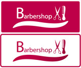 set two background for barbershop industry poster