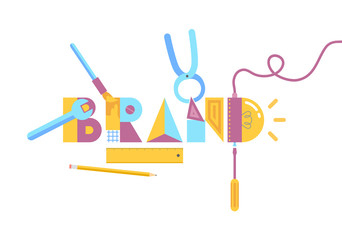 Brand construction concept