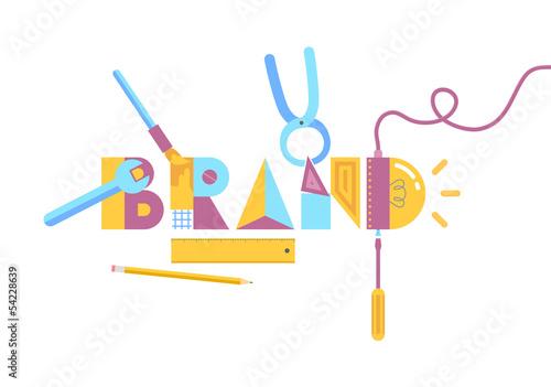 Brand construction concept