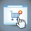 Vector internet shopping concept