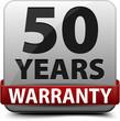 50 years warranty