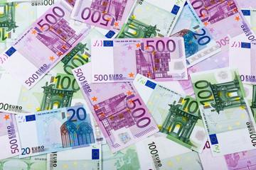 Geldscheine, Bargeld, Euro, Währung