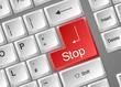 Tastatur Enter Stop
