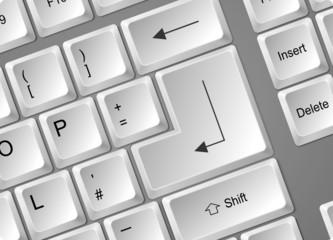 Tastatur Enter weiß